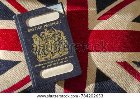 Expired British Passport with Blue Cover