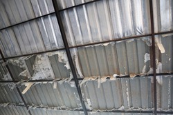 expired polyethylene foam heat insulation (PE foam) under metal sheet roof, Surface of roof become rusty