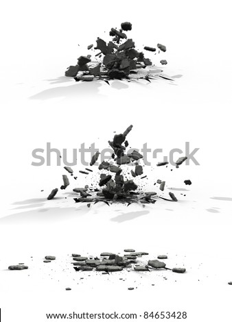 Explode asphalt