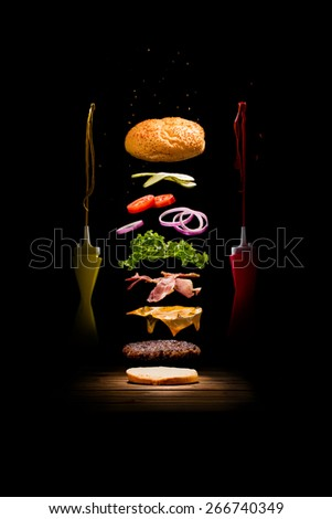 Exploded Hamburger
