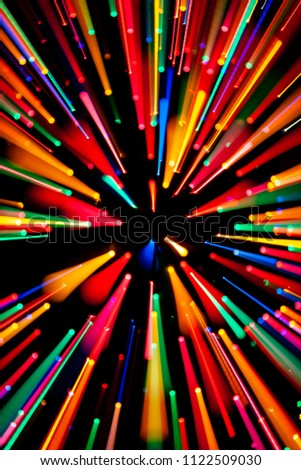 Exploding Colorful Abstract Design Element