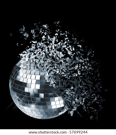 Exploding disco ball - stock photo