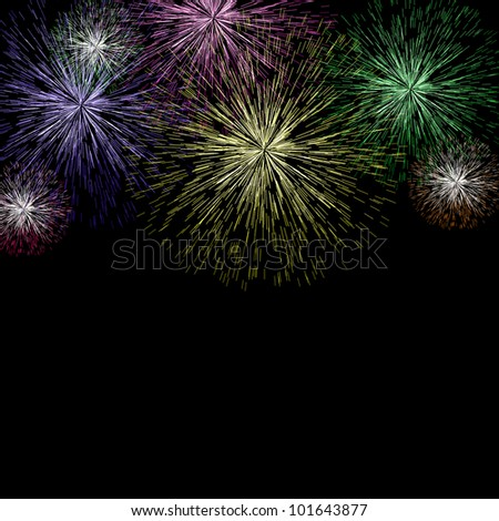 Exploding Fireworks Background As New Years Or Independence Celebrations
