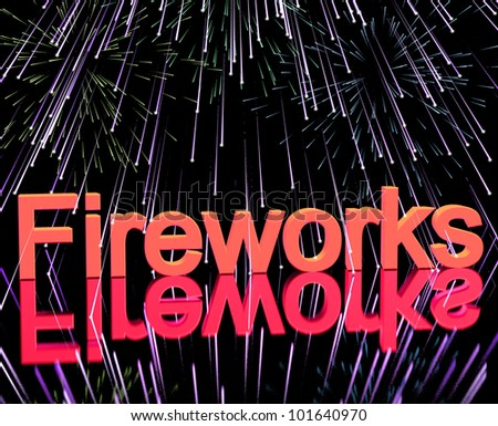 Exploding Fireworks For New Years Or Independence Celebration