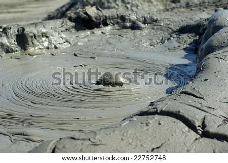 Exploding mud volcano in Azerbaijan