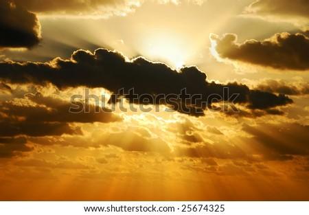 exploding sunset
