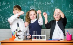 Exploring is so exciting. Chemical reaction occurs when substance change into new substances. Pupils study chemistry in school. Kids enjoy chemical experiment. Chemical substance dissolves in another.