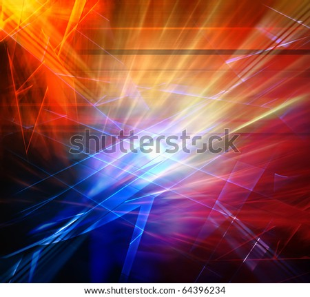 Explosion, abstract background