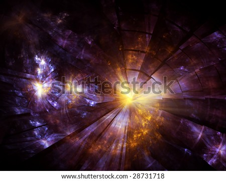 stock photo : Explosion, broken glass, burst of light