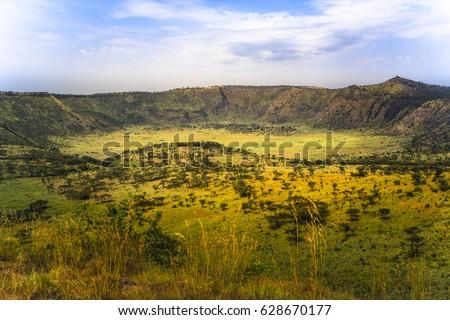 Explosion Craters in Queen Elizabeth National Park, Uganda