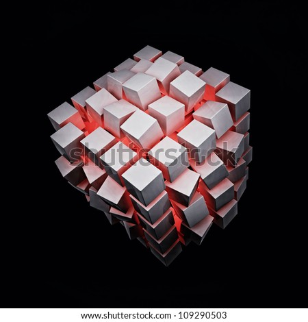 Explosion Cube With Red Light