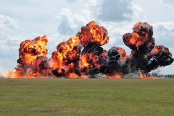 Explosion fire ball