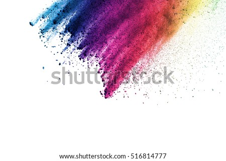 Explosion of color powder  on with background #516814777