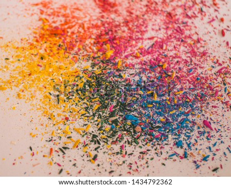 Explosion of colors by colored pencils