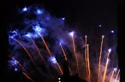 explosion of fireworks with abstract impression
