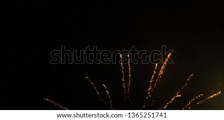 explosion of fireworks with abstract impression #1365251741