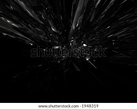 explosion of glass 3d abstract effect 1