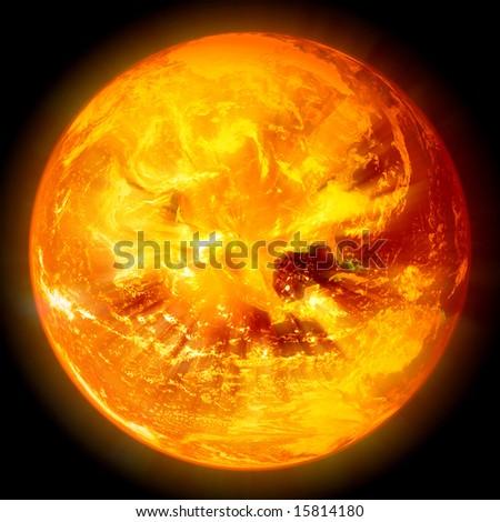 Stock Photo explosion of sun