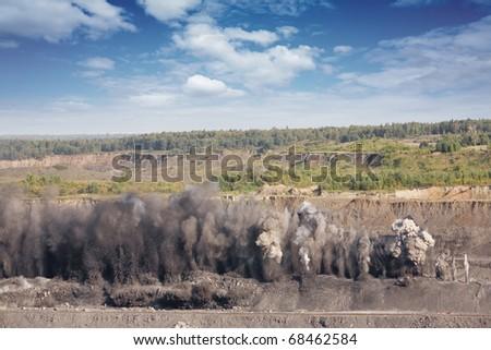 Explosive works on a coal mine