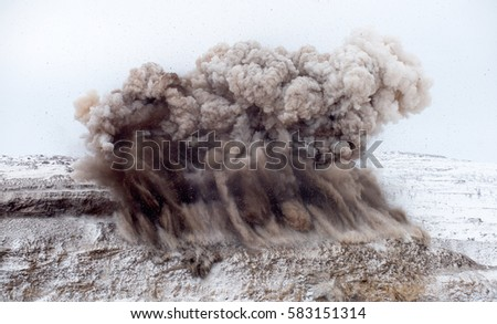 Explosive works on open pit #583151314