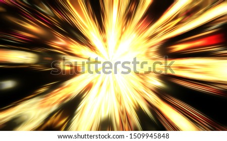 Explotion of glowing star. Dynamic colorful background image. Glow lights wallpaper.