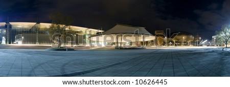 EXPO-Plaza panorama. Hanover. Germany.