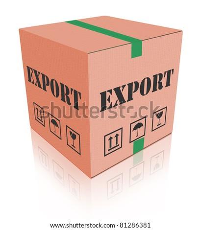export sending package international trade parcel delivery cargo shipment worldwide exportation