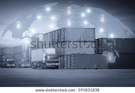 Export worldwide and Transportation system #595831838