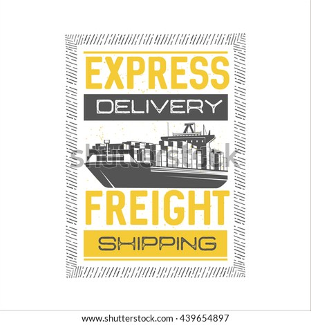 express delivery. shipping and...