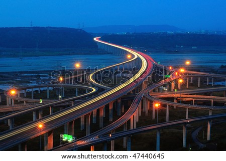 express highway in the dusk