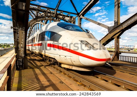 Express in Frankfurt, Germany in a summer day
