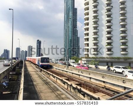 Express train in Thai,traffic,transportation #557831410
