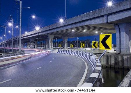 express way at night time #74461144