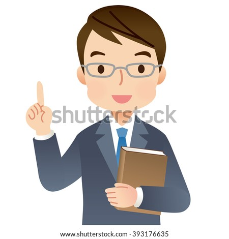 """expression of expert man with a Book """"point"""""""