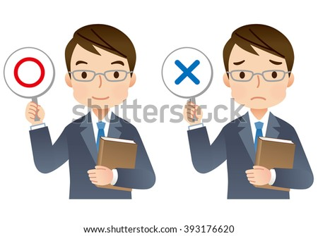 """expression of expert man with a Book """"right and wrong"""""""