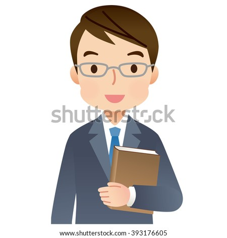 """expression of expert man with a Book """"smile"""""""