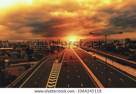 Expressway in the Bangkok city - Shutterstock ID 1064245118