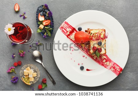exquisite restaurant dessert....