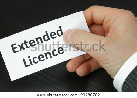 Extended Licence Sign with Human Hand