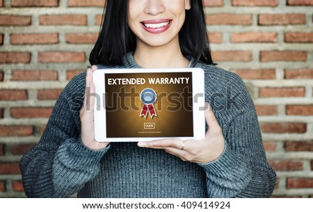 Extended Warranty Guaranteed Quality Safety Service Concept #409414924