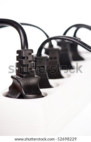 Extension cord with plugs