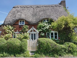 Exterior and Garden of a Beautiful Old Traditional English Cottage House