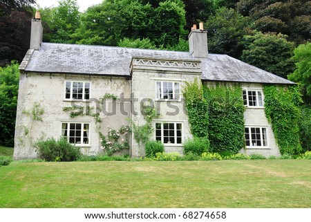 Exterior and Garden of a Typical English Country House Built Circa 1790