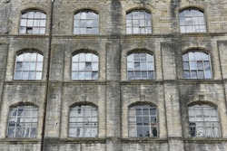 Exterior and Windows of a Derelict Ware House