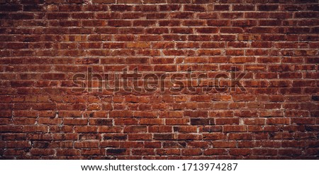 Exterior brick wall texture background.