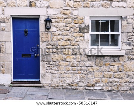 stock photo : Exterior Detail of a Stone Cottage