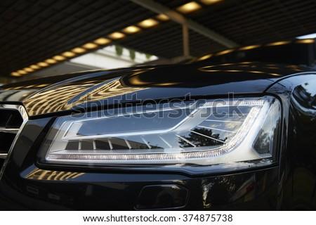 Photo of Exterior Detail of Car Headlight