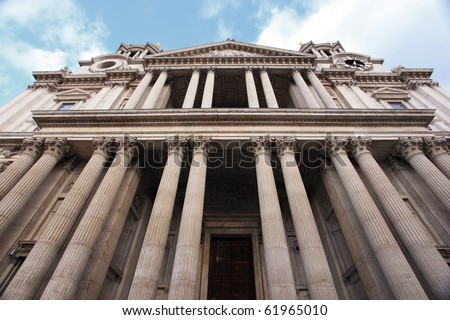 Exterior Detail of London's Saint Paul's Cathedral
