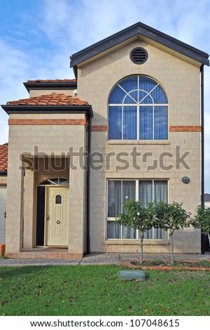 Exterior facade of a Australian home