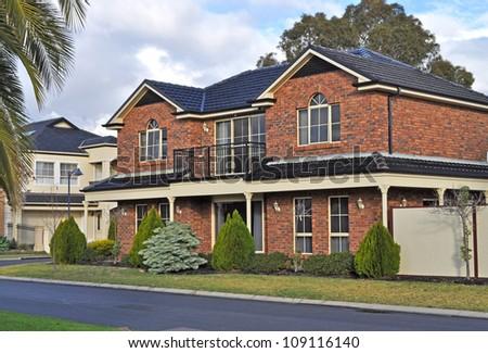 Exterior facade of a Australian house